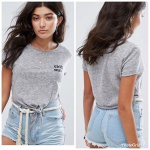5 for 25⭐️ Billabong Chill Out Grey Crop Top NEW